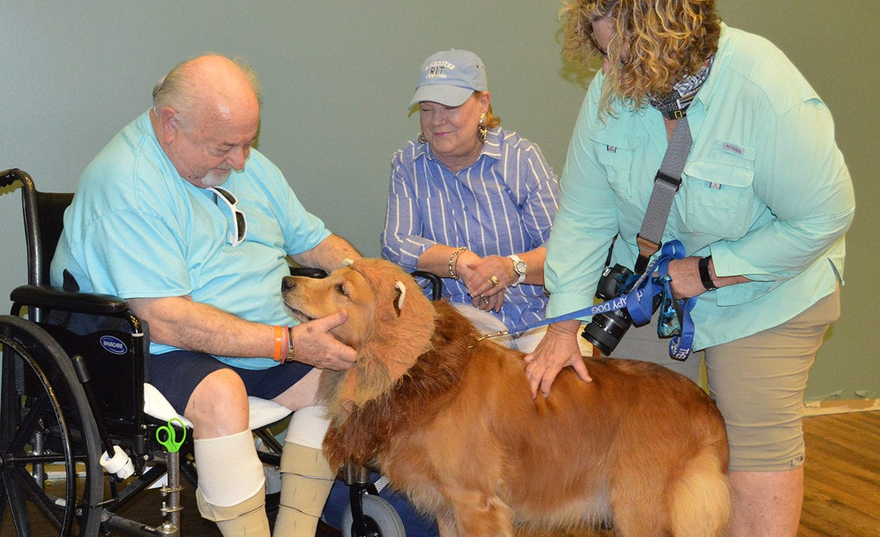 Pet Therapy with residents