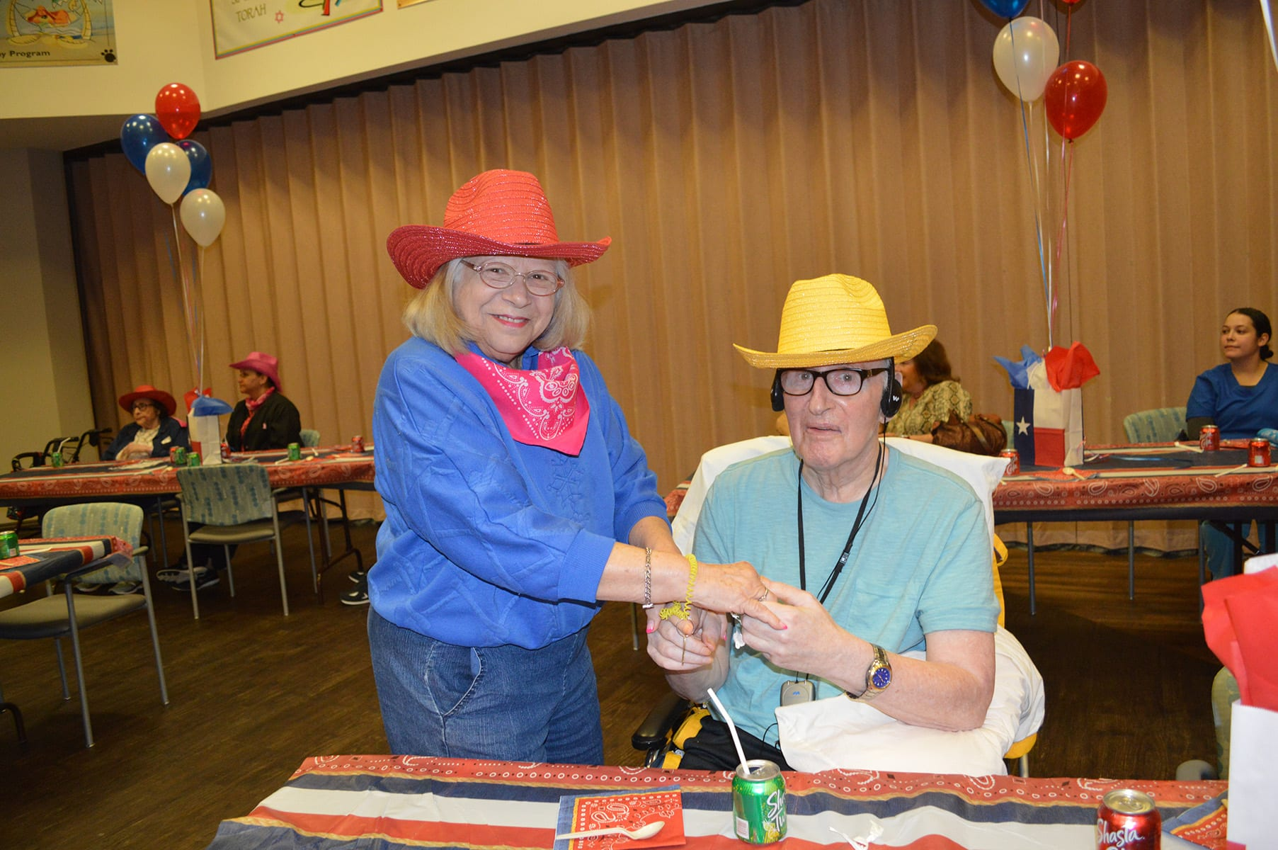 Residents dancing at Go Texan Day