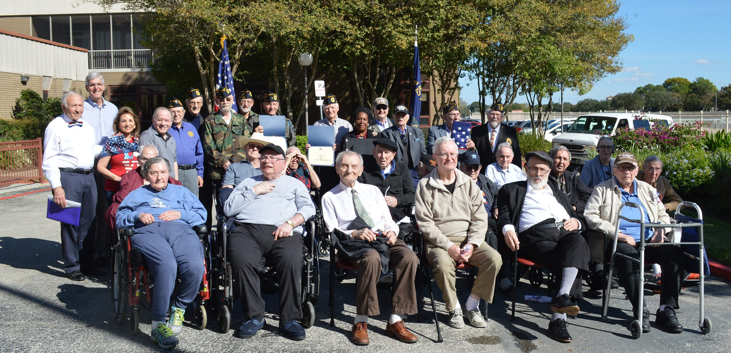 Veterans Day Resident War Vets with JWV post members